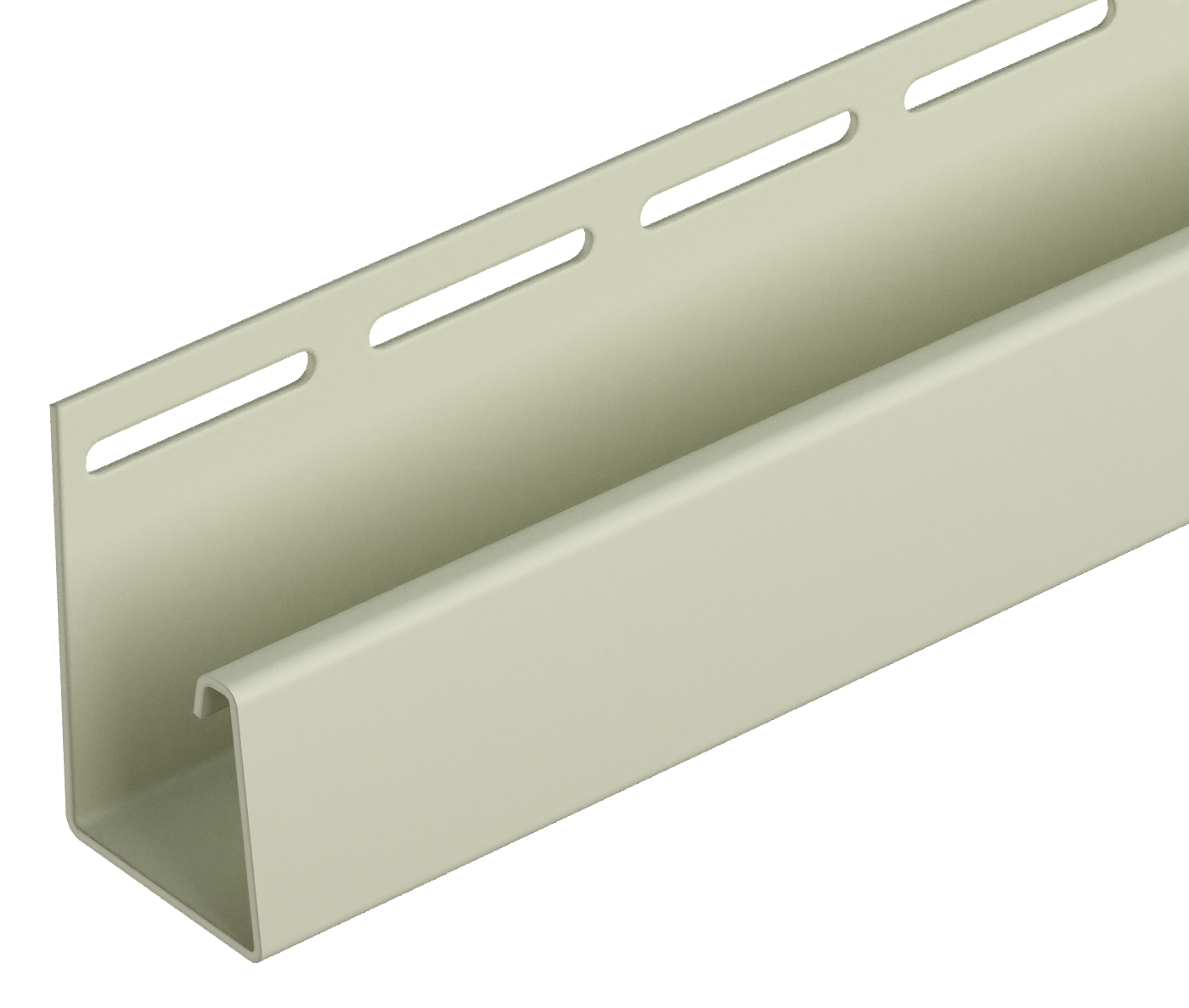 Виниловый сайдинг - Accessories - LUX stone - FACADE J-STRIP 30 MM (BERG, BURG, FLEMISH, KLINKER) - Facade J-strip 30 mm Pale yellow