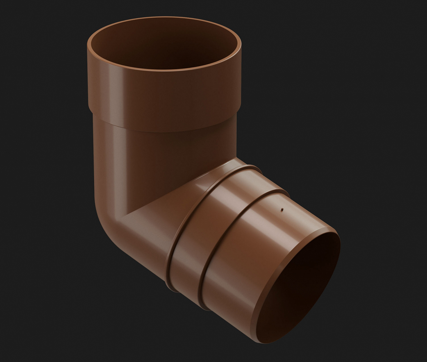 Водостоки - PREMIUM SERIES Chestnut RAL 8017 - Elements of the drainage system - Pipe elbow 72˚