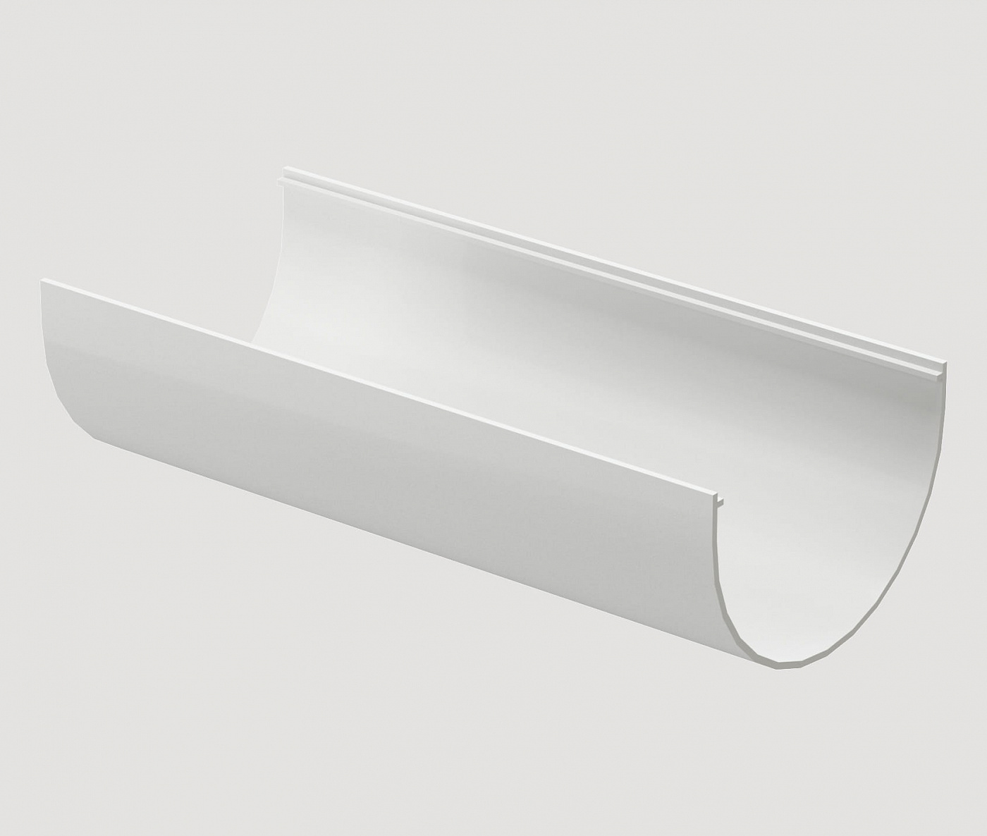 Водостоки - STANDARD SERIES White RAL 9003 - Elements of the drainage system - Gutter 3m