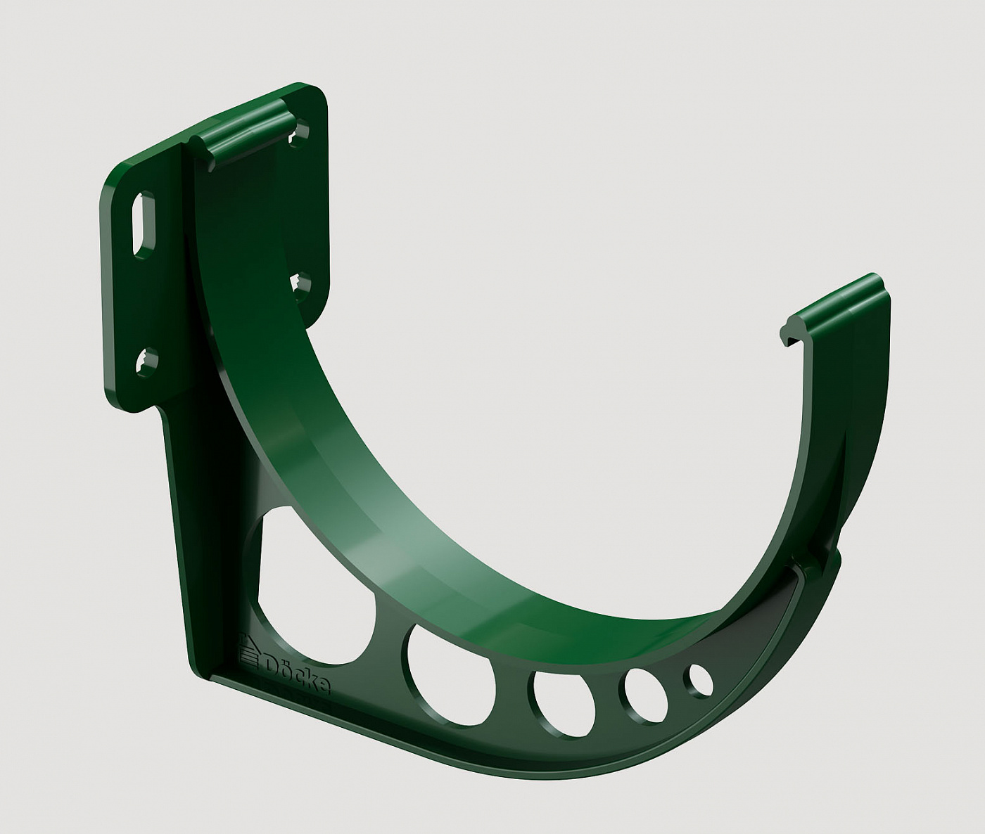 Водостоки - STANDARD SERIES Green RAL 6005 - Elements of the drainage system - Gutter bracket (PVC)