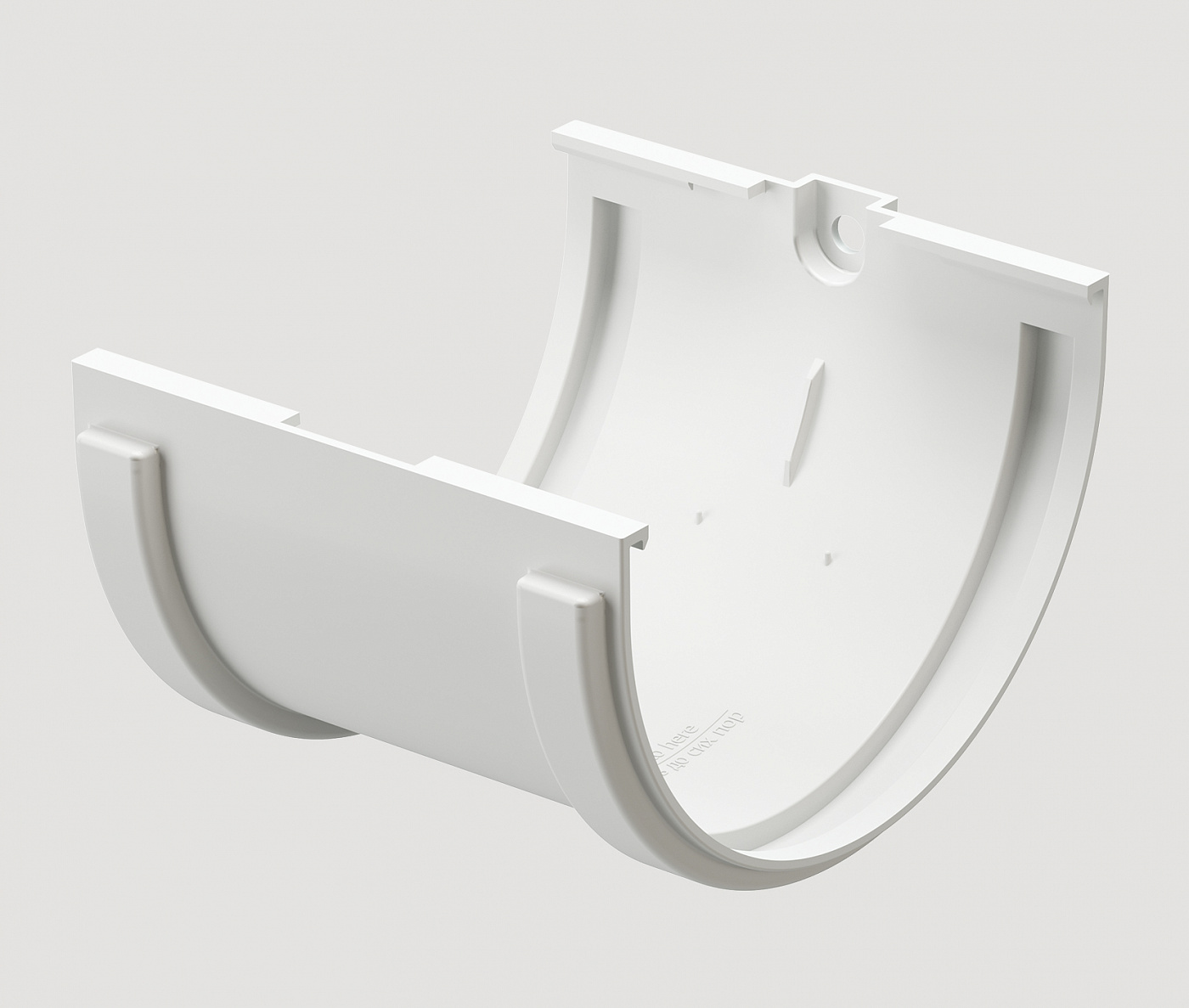 Водостоки - STANDARD SERIES White RAL 9003 - Elements of the drainage system - Gutter connector